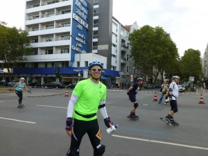 Daniel på rullemarathon
